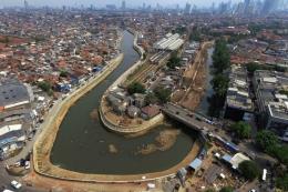 Ilustrasi, Sungai Ciliwung di Jakarta. Sumber: Kompas