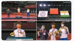 Para peraih medali tunggal putri Olimpiade Tokyo: https://twitter.com/BadmintonTalk