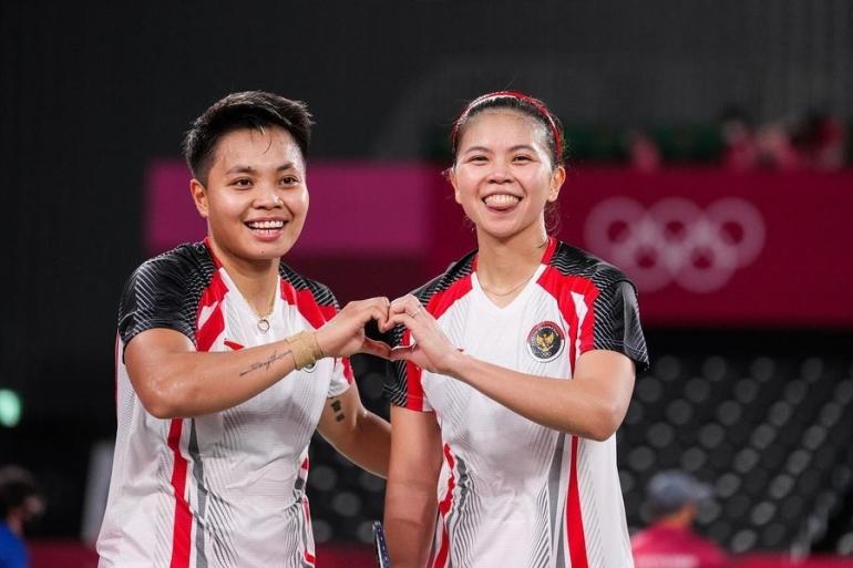 Greysia Polii dan Apriyani Rahayu ganda putri finalis Olimpiade Tokyo 2020 (Foto BWFbadminton.com)