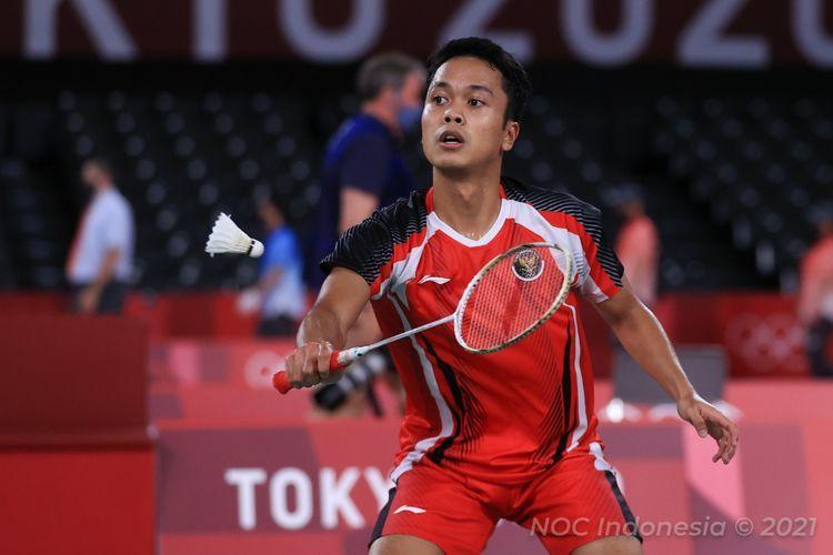 Ginting saat tampil di Olimpiade Tokyo 2020, Sumber: Kompas.com