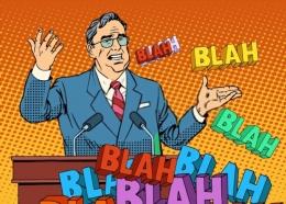Ilustrasi pejabat berbicara janji-janji kosong. Sumber foto: Shutterstock