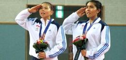 Greysia Polii dan Nitya Maheswari meraih emas Asian Games 2014: badmintonindonesia.org