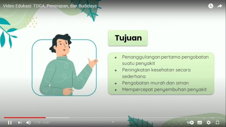 Gambar 1. Video Edukasi Pemanfaatan dan Budidaya Tanaman Obat Keluarga (TOGA) yang Dibagikan Kepada Warga Kelurahan Kejambon/dokpri