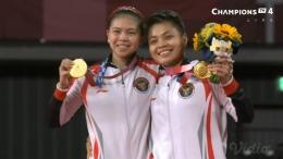 Potret Greysia Polii/Apriyani Rahayu Yang Berhasil Meraih Medali Emas Untuk Indonesia Di Cabor Bulutangkis Olimpiade Tokyo 2020 . Sumber : Badminton Talk
