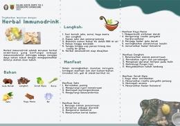 Leaflet Pembuatan dan Manfaat Herbal Immunodrink