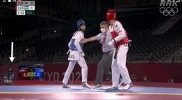 Dokumentsi pribadi dari Maria, volunteer di Olimpiade Tokyo 2020 | Foto atas, Maria sedang bertugas, dan Maria bisa nonton pertandingang taekwondo, sambil bertgas sebagai volunteer .....