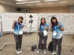 Dokumentasi pribadi, dari Maria sebagai volunteer | Maria ditengah2, sebelah kiri Chiaki dan yang kanan