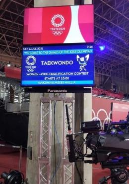 Dokumentasi pribadi, dari Maria voluntee | Maria tugas di Makuhari Messe, Chiba di Hall 8 untuk bertanding taekwondo