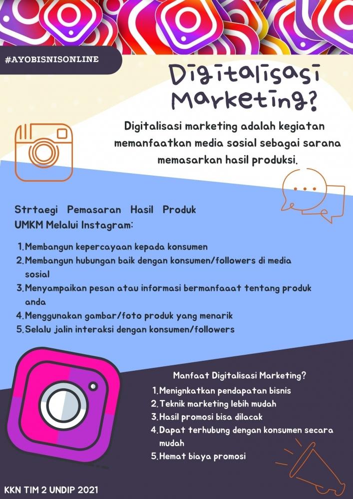 Poster tentang digitalisasi marketing sebagai media penyampaian sosialisasi