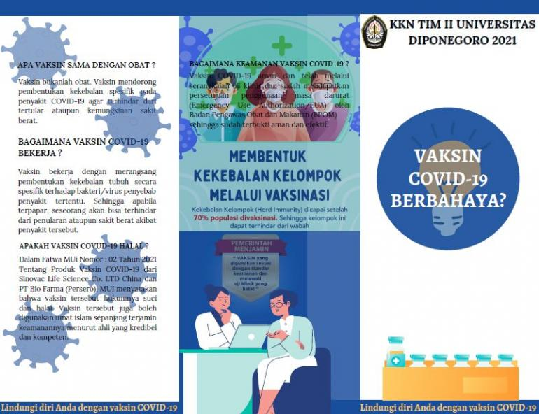 Leaflet Vaksin COVID-19 (dokpri)