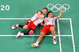 Momen selebrasi juara olimpiade GreyAp/foto: olympic.com