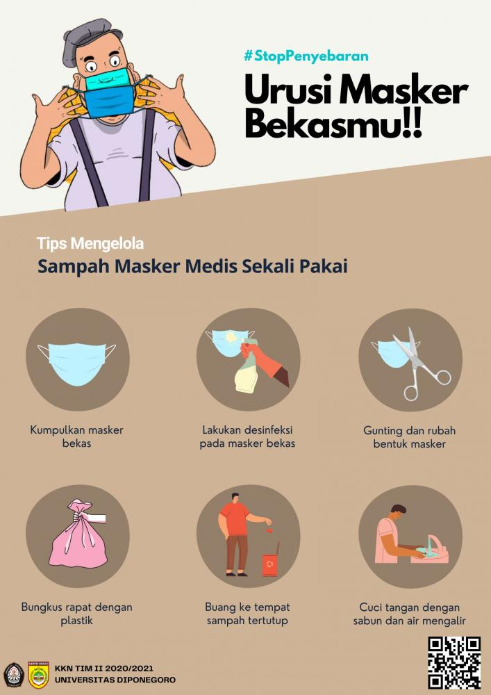 Poster Edukasi Pengelolaan Masker Medis Bekas/Dokpri