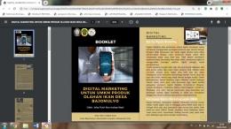 Tampilan Booklet Digital Marketing untuk UMKM Produk Olahan Ikan Desa Bajomulyo/Dokpri