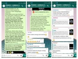 Respon Positif dari Bapak dan Ibu di Group WhatsApp Pemdes + Lembaga Desa Bajomulyo/Dokpri