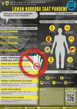 Poster sosialisasi narkoba (Sumber: Dokumentasi pribadi).