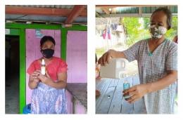 Pelatihan pembuatan handsanitizer dan handsoap kepada perwakilan warga RT.02/01 Dukuh Puthuk, Desa Kalen, Kecamatan Kedungtuban, Kabupaten Blora/dokpri