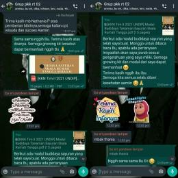 Pemberian modul budidaya sayuran skala rumah tangga secara online melalui grup whatsapp PKK RT 02 RW 03 Kelurahan Pandean Lamper (dokpri)