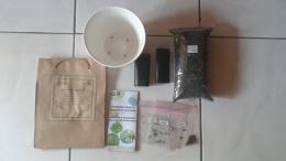 Paket growing kit sayuran yang dibagikan