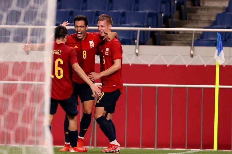 Spanyol akan bertemu Jepang di semifinal sepak bola pada olimpiade 2020. Sumber foto: AFP/Ayaka Naito via Kompas.com