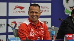 Rexy Mainaky, peraih emas ganda putra Olimpiade Atlanta 1996 yang saat ini melatih Thailand (cnnindonesia.com/ Putra Permata).