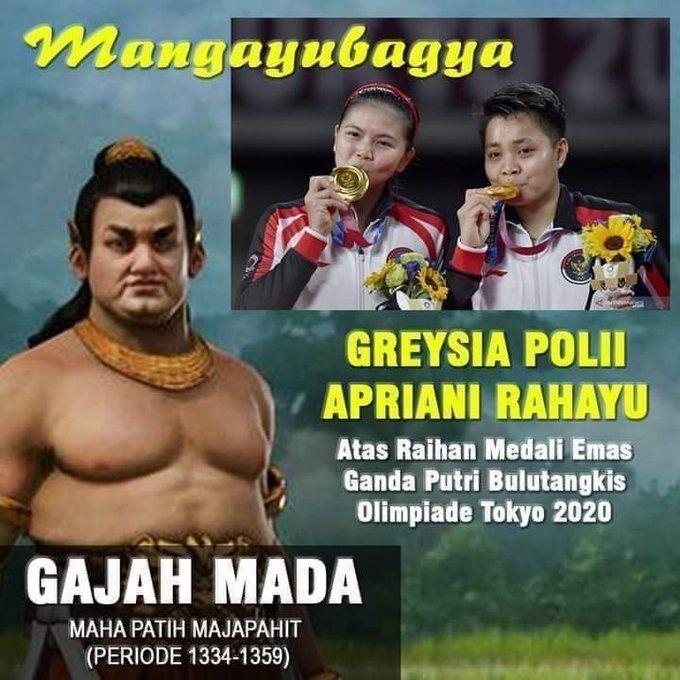 Ucapan mangayubagya dari Patih Gajah Mada (twitter.com/ @BonnieTriyana).