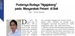 Salah satu kolom Opini di Majalah Pemerintah Daerah (dok.pribadi).