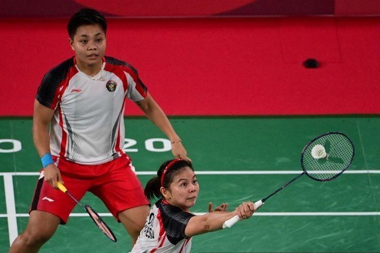 Aksi Impresif Peraih Medali Emas Kontingen Indonesia Greysia Polii/Apriyani Rahayu di Atas Lapangan - Sumber : kompas.com