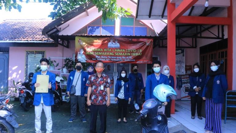 Perizinan Mahasiswa TIM II KKN UNDIP 2021 di Kelurahan Meteseh