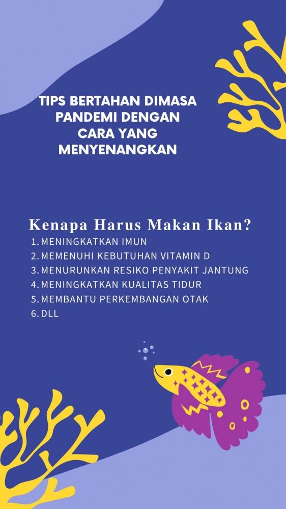 Poster Manfaat Makan Ikan (dokpri)