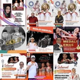 Potret narsisisme para politikus di Negeri +62 yang memanfaatkan medali emas Olimpiade Greysia dan Apriyani. | Diolah dari Twitter @adriansyahya