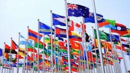 Bendera anggota PBB. Sumber: www.wallpapersafari.com