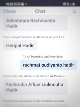 Rachmat Pudiyanto aka Rahab Ganendra hadir dong hehee. (Screenshot Rachmat PY)
