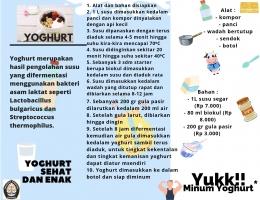 Gambar 1. Leaflet cara pembuatan yoghurt (dok. pribadi)