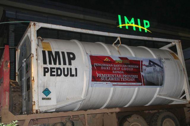 Bantuan ISO tank oksigen untuk Sulawesi Tengah dari PT IMIP. Sumber Foto: Palu Poso