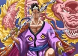 Momonosuke wujud dewasa dan perubahan naganya di One Piece 1021. (Sumber: greenscene.co.id)