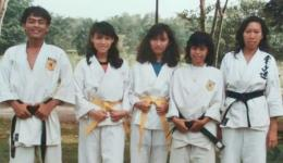 Ketika saya aktif melatih karate (dok.pri)