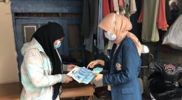 Sosialisasi pemakaian masker dobel (Dok.pribadi)