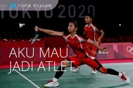 Ilustrasi atlet berprestasi. (Diolah kompasiana dari sumber gambar: ANTARA FOTO/Sigid Kurniawan via Kompas.com)