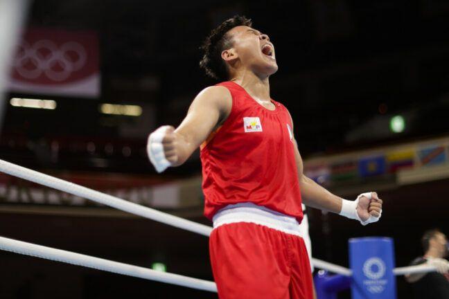 Nesthy Petecio Berhasil Meraih Perak untuk Filipina dalam Olimpiade Tokyo 2020 - Sumber : kompas.com
