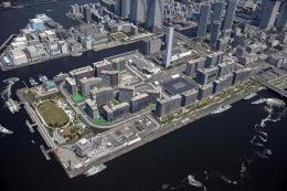 Area ini sengaja di devoleped untuk Desa Olimpik, bagian dari pengembangan reklamasi area Odaiba, Tokyo  www.thefocus.news.com