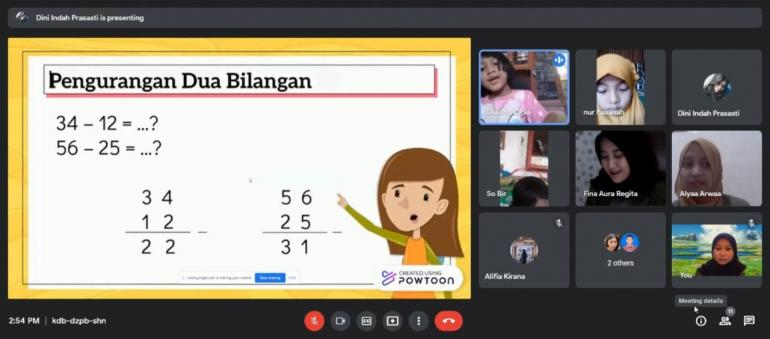 Pembelajaran Daring Via Google Meet (dokpri)