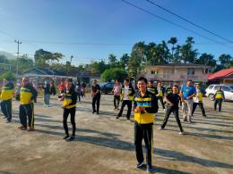 Olahraga/Senam Bersama di Nagari Durian Tinggi (dokpri)