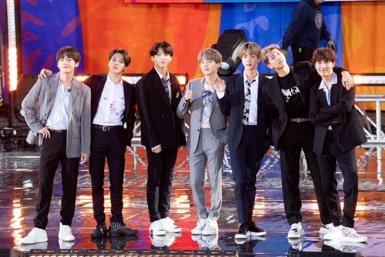 BTS menjadi bagian dari perkembangan Hallyu di dunia. Sumber: Noam Galai/Getty Images/AFP via Kompas