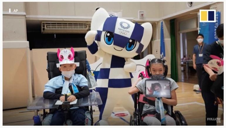 Anak2 berbagai jenis disabilitas yang diajak untuk menikmati kegiatan di dunia olimpiad yang sedang berlangsung. | scmp.com