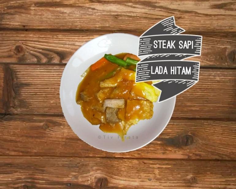 Steak Sapi Lada Hitam | Sumber: DokPri