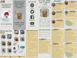 Leaflet ramuan herbal untuk menjaga daya tahan tubuh