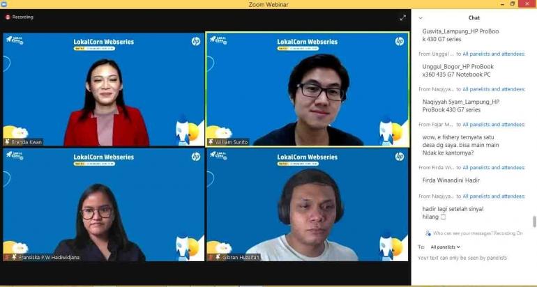 Para RocketTeam Day-1, Paparan Menarik dan Menginspirasi di Webinar LokalCorn. Dokpri
