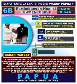 Siapa WAGUB yang akan Terpilih - Sinar Papua