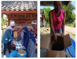 Pelatihan pembuatan kompos takakura bersama warga Dukuh Puthuk, Desa Kalen (dokpri)
