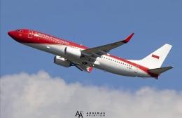 Pesawat Kepresidenan Indonesia dgn livery baru. Sumber: tangkapan layar IG@adhimas_aviation